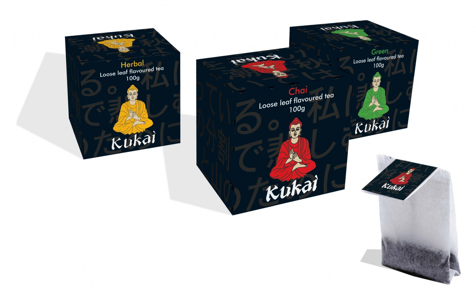 Branding for Kukai Tea Packaging