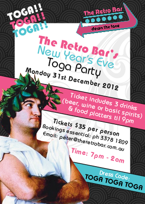 Flyer and Poster Design for the Retro Bar