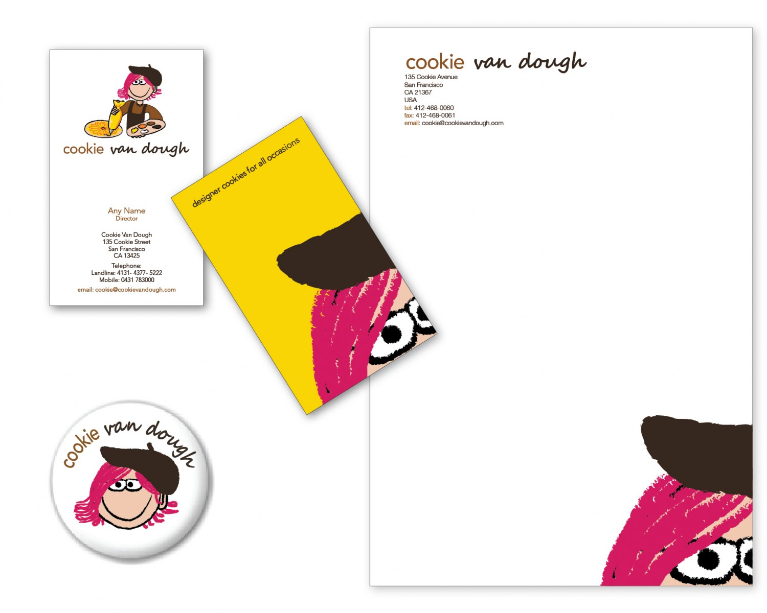 Business Card and Stationary Design for Cookie Van Dough