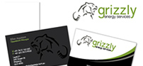Logo and Business Card design for Grizzly Energy Services