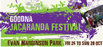 Poster and Flyer design for The Goodna Jacaranda Festival