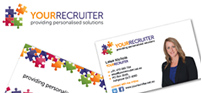 Logo and Business Card design for Leisa Nicholls at Your Recruiter